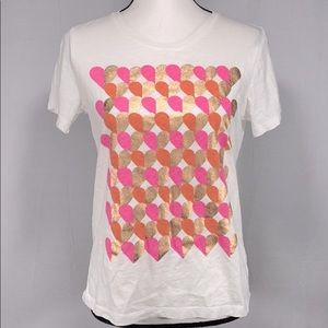 J. Crew Collector Tee Valentines Hearts size M